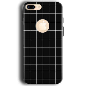Apple iphone 7 With Apple Cut Mobile Covers Cases Black with White Checks - Lowest Price - Paybydaddy.com