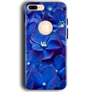 Apple iphone 7 With Apple Cut Mobile Covers Cases Blue flower - Lowest Price - Paybydaddy.com