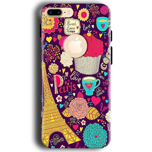 Apple iphone 7 With Apple Cut Mobile Covers Cases Paris Sweet love - Lowest Price - Paybydaddy.com