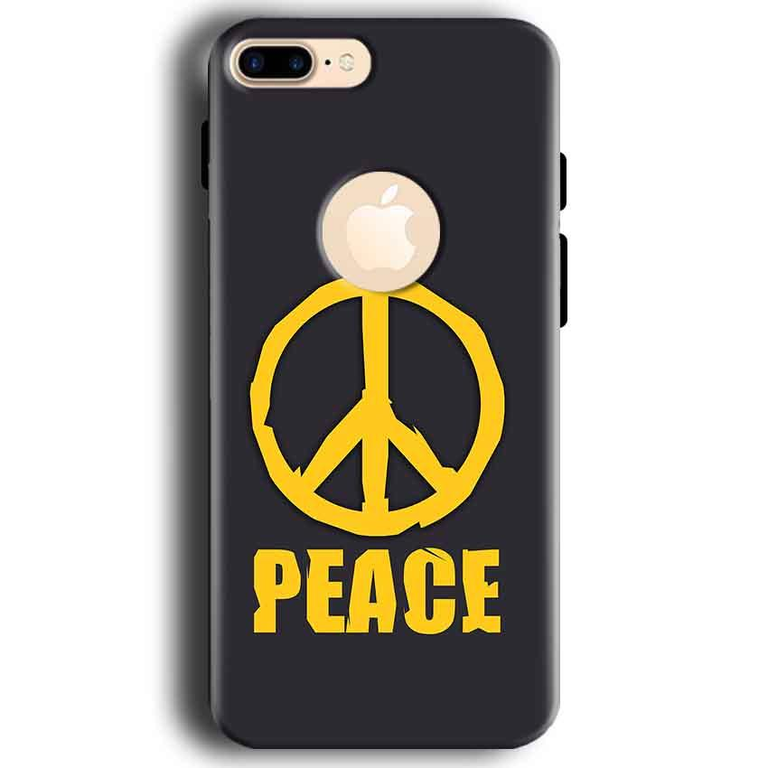 Apple iphone 7 With Apple Cut Mobile Covers Cases Peace Blue Yellow - Lowest Price - Paybydaddy.com