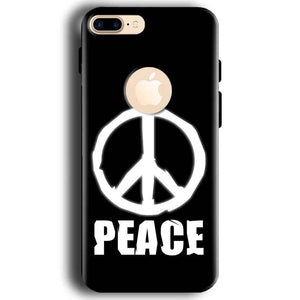 Apple iphone 7 With Apple Cut Mobile Covers Cases Peace Sign In White - Lowest Price - Paybydaddy.com