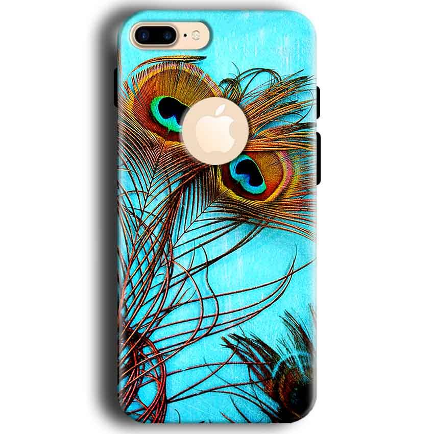 Apple iphone 7 With Apple Cut Mobile Covers Cases Peacock blue wings - Lowest Price - Paybydaddy.com