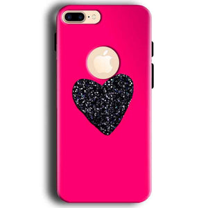 Apple iphone 7 With Apple Cut Mobile Covers Cases Pink Glitter Heart - Lowest Price - Paybydaddy.com