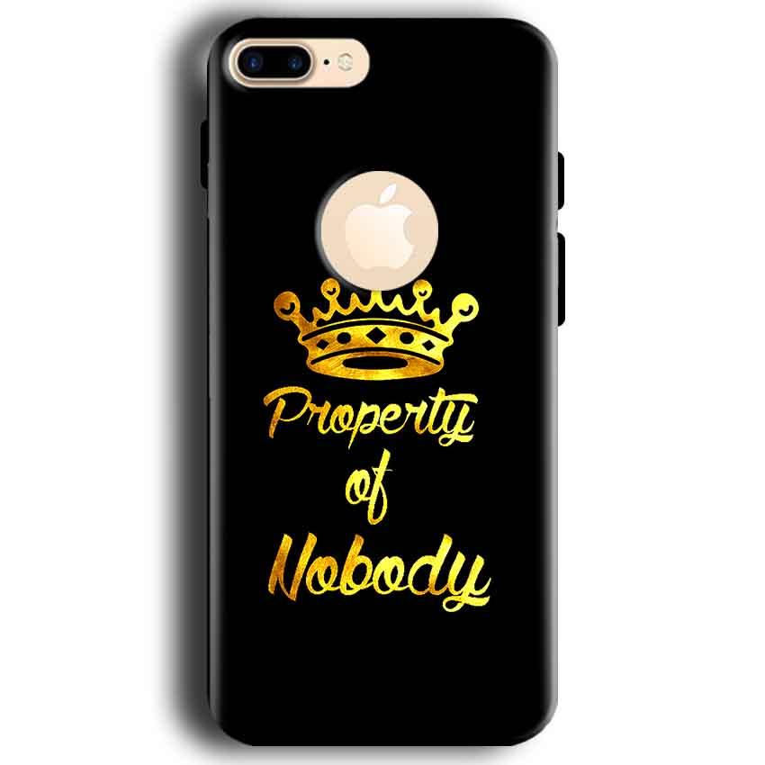 Apple iphone 7 With Apple Cut Mobile Covers Cases Property of nobody with Crown - Lowest Price - Paybydaddy.com