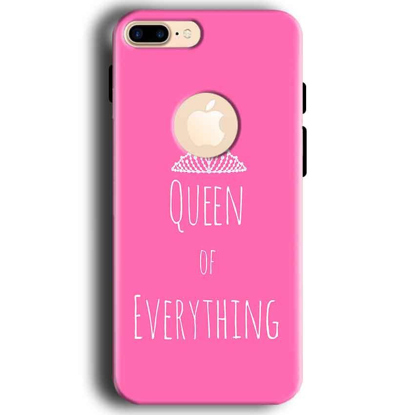 Apple iphone 7 With Apple Cut Mobile Covers Cases Queen Of Everything Pink White - Lowest Price - Paybydaddy.com