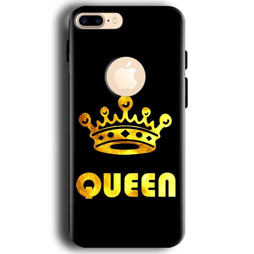 Apple iphone 7 With Apple Cut Mobile Covers Cases Queen With Crown in gold - Lowest Price - Paybydaddy.com