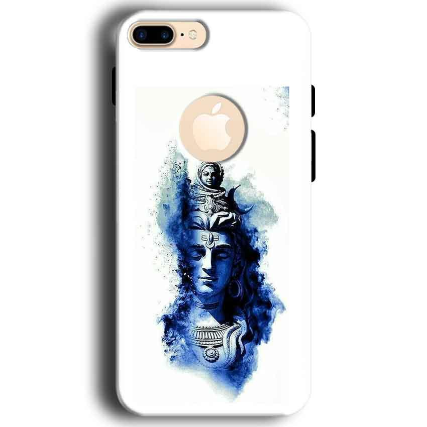 Apple iphone 7 With Apple Cut Mobile Covers Cases Shiva Blue White - Lowest Price - Paybydaddy.com