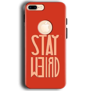 Apple iphone 7 With Apple Cut Mobile Covers Cases Stay Weird - Lowest Price - Paybydaddy.com