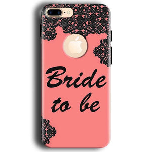 Apple iphone 7 With Apple Cut Mobile Covers Cases Mobile Covers Cases bride to be with ring Black Pink - Lowest Price - Paybydaddy.com