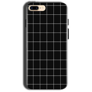 Apple iphone 8 Mobile Covers Cases Black with White Checks - Lowest Price - Paybydaddy.com