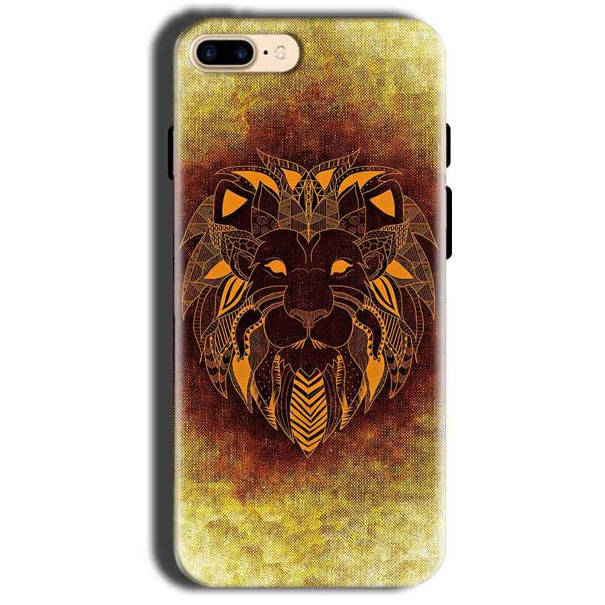 Apple iphone 8 Mobile Covers Cases Lion face art - Lowest Price - Paybydaddy.com