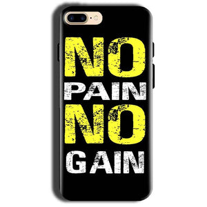 Apple iphone 8 Mobile Covers Cases No Pain No Gain Yellow Black - Lowest Price - Paybydaddy.com