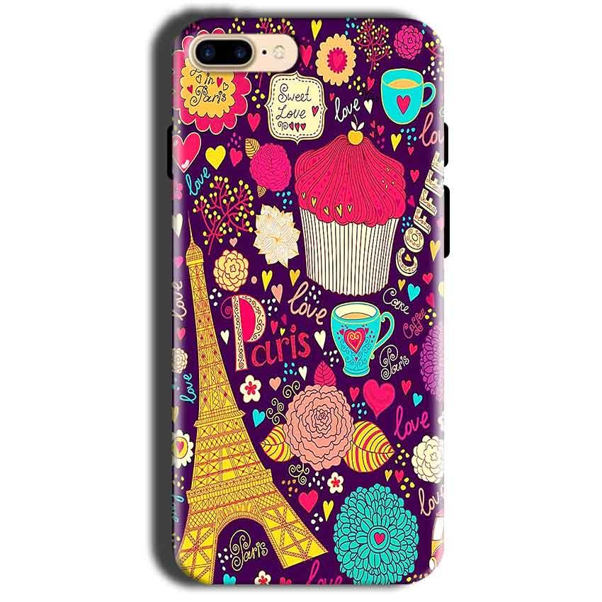 Apple iphone 8 Mobile Covers Cases Paris Sweet love - Lowest Price - Paybydaddy.com