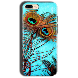 Apple iphone 8 Mobile Covers Cases Peacock blue wings - Lowest Price - Paybydaddy.com