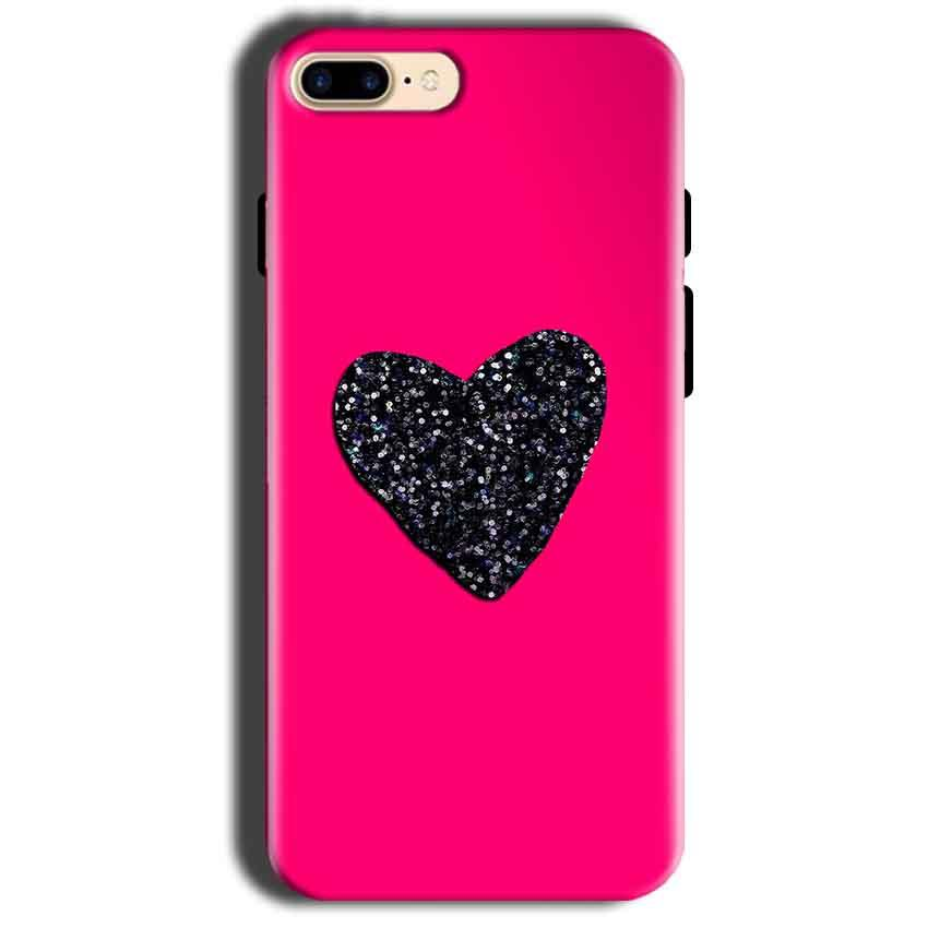 Apple iphone 8 Mobile Covers Cases Pink Glitter Heart - Lowest Price - Paybydaddy.com