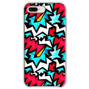 Apple iphone 8 Plus Mobile Covers Cases Colored Design Pattern - Lowest Price - Paybydaddy.com