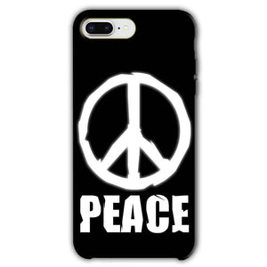 Apple iphone 8 Plus Mobile Covers Cases Peace Sign In White - Lowest Price - Paybydaddy.com