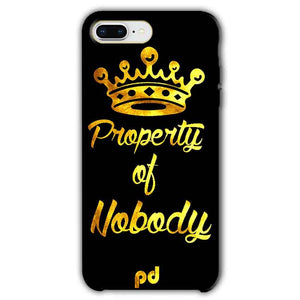 Apple iphone 8 Plus Mobile Covers Cases Property of nobody with Crown - Lowest Price - Paybydaddy.com