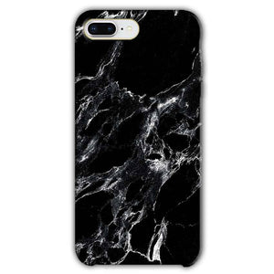 Apple iphone 8 Plus Mobile Covers Cases Pure Black Marble Texture - Lowest Price - Paybydaddy.com