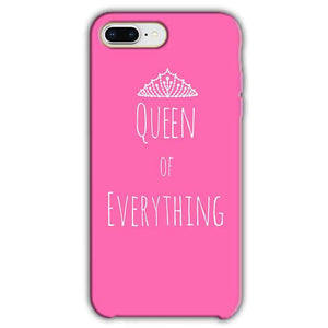 free shipping 6efb4 b528b Apple iphone 8 Plus Queen Of Everything Pink White Back Cover