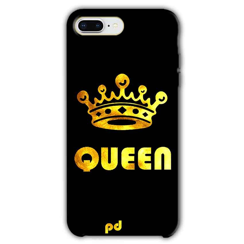 Apple iphone 8 Plus Mobile Covers Cases Queen With Crown in gold - Lowest Price - Paybydaddy.com