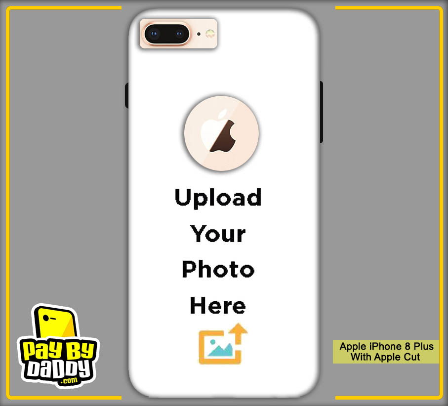 Customized Apple iphone 8 Plus With Apple Cut Mobile Phone Covers & Back Covers with your Text & Photo