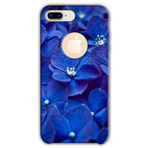 Apple iphone 8 Plus With Apple Cut Mobile Covers Cases Blue flower - Lowest Price - Paybydaddy.com