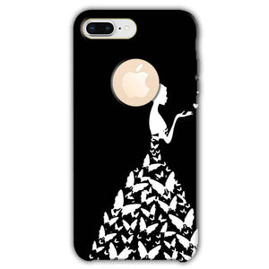Apple iphone 8 Plus With Apple Cut Mobile Covers Cases Butterfly black girl - Lowest Price - Paybydaddy.com