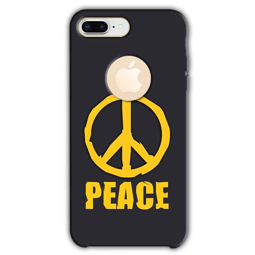 Apple iphone 8 Plus With Apple Cut Mobile Covers Cases Peace Blue Yellow - Lowest Price - Paybydaddy.com