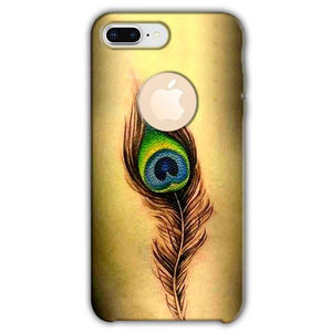 Apple iphone 8 Plus With Apple Cut Mobile Covers Cases Peacock coloured art - Lowest Price - Paybydaddy.com