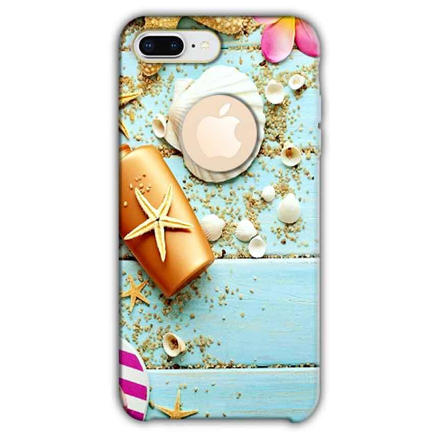 Apple iphone 8 Plus With Apple Cut Mobile Covers Cases Pearl Star Fish - Lowest Price - Paybydaddy.com