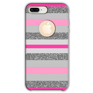 Apple iphone 8 Plus With Apple Cut Mobile Covers Cases Pink colour pattern - Lowest Price - Paybydaddy.com