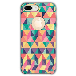 Apple iphone 8 Plus With Apple Cut Mobile Covers Cases Prisma coloured design - Lowest Price - Paybydaddy.com