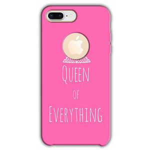 Apple iphone 8 Plus With Apple Cut Mobile Covers Cases Queen Of Everything Pink White - Lowest Price - Paybydaddy.com