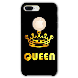 Apple iphone 8 Plus With Apple Cut Mobile Covers Cases Queen With Crown in gold - Lowest Price - Paybydaddy.com