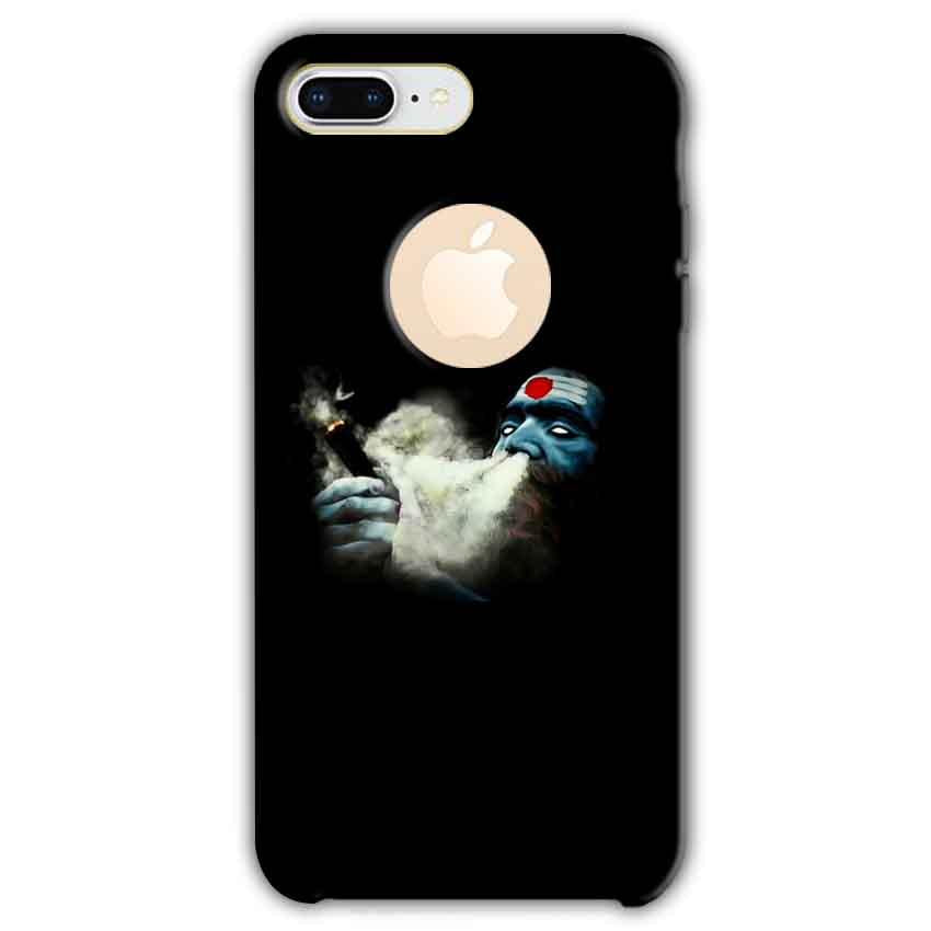 Apple iphone 8 Plus With Apple Cut Mobile Covers Cases Shiva Aghori Smoking - Lowest Price - Paybydaddy.com