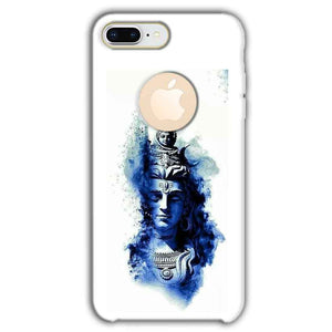 Apple iphone 8 Plus With Apple Cut Mobile Covers Cases Shiva Blue White - Lowest Price - Paybydaddy.com