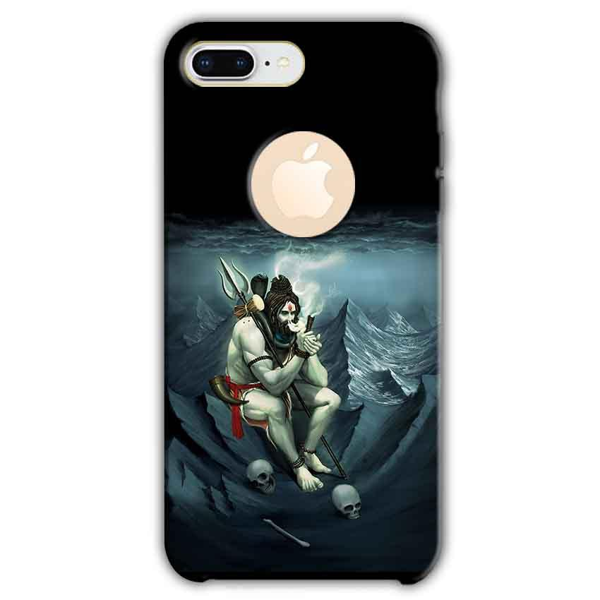 Apple iphone 8 Plus With Apple Cut Mobile Covers Cases Shiva Smoking - Lowest Price - Paybydaddy.com