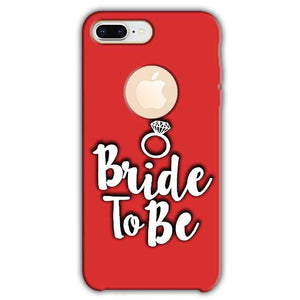 Apple iphone 8 Plus With Apple Cut Mobile Covers Cases bride to be with ring - Lowest Price - Paybydaddy.com