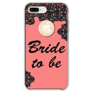 Apple iphone 8 Plus With Apple Cut Mobile Covers Cases Mobile Covers Cases bride to be with ring Black Pink - Lowest Price - Paybydaddy.com