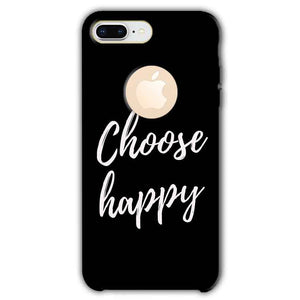 Apple iphone 8 Plus With Apple Cut Mobile Covers Cases Choose happy - Lowest Price - Paybydaddy.com