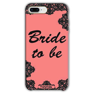 Apple iphone 8 Plus Mobile Covers Cases Mobile Covers Cases bride to be with ring Black Pink - Lowest Price - Paybydaddy.com