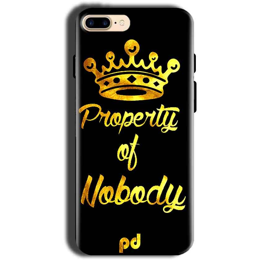 Apple iphone 8 Mobile Covers Cases Property of nobody with Crown - Lowest Price - Paybydaddy.com
