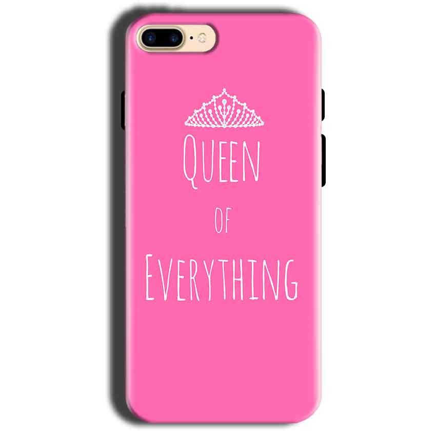 Apple iphone 8 Mobile Covers Cases Queen Of Everything Pink White - Lowest Price - Paybydaddy.com