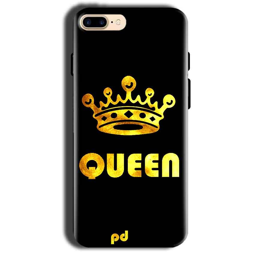 Apple iphone 8 Mobile Covers Cases Queen With Crown in gold - Lowest Price - Paybydaddy.com
