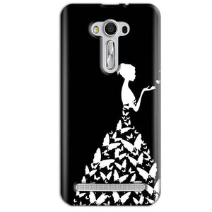 Asus Zenfone 2 Laser ZE550KL Mobile Covers Cases Butterfly black girl - Lowest Price - Paybydaddy.com
