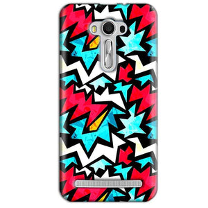 Asus Zenfone 2 Laser ZE550KL Mobile Covers Cases Colored Design Pattern - Lowest Price - Paybydaddy.com