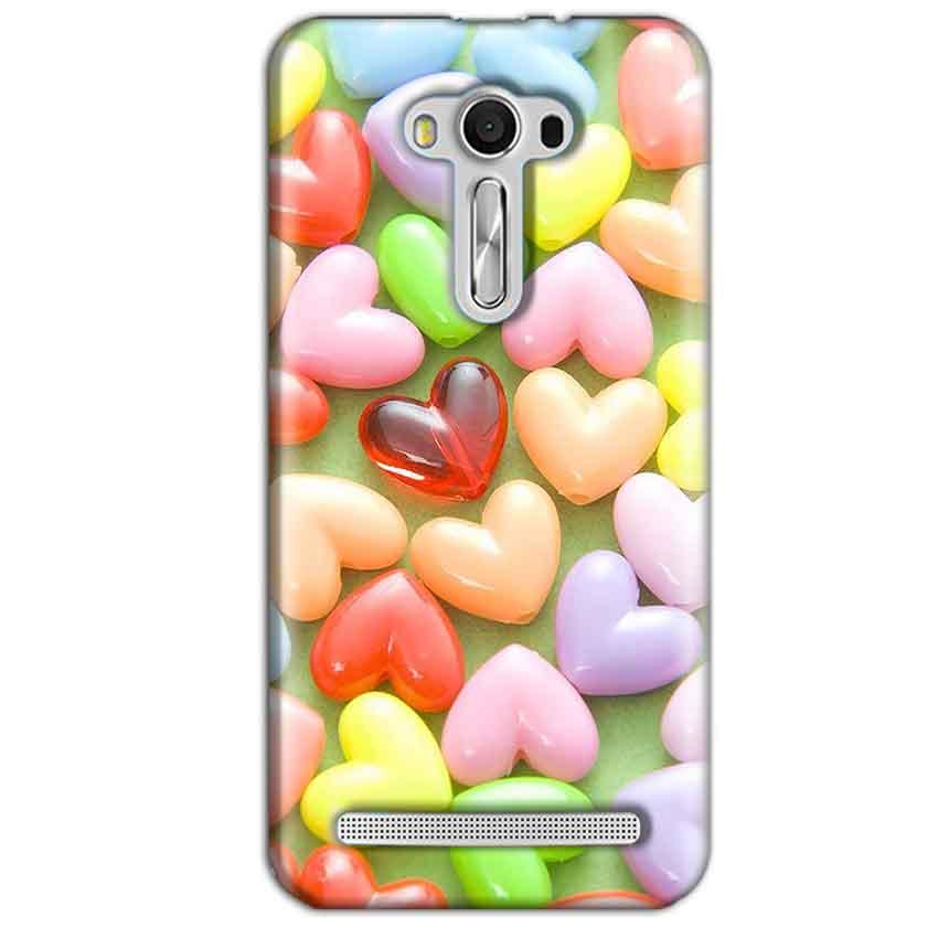 Asus Zenfone 2 Laser ZE550KL Mobile Covers Cases Heart in Candy - Lowest Price - Paybydaddy.com