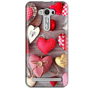 Asus Zenfone 2 Laser ZE550KL Mobile Covers Cases Hearts- Lowest Price - Paybydaddy.com