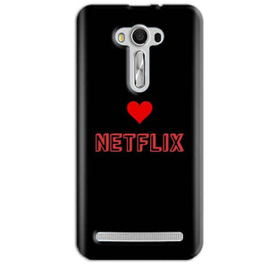 Asus Zenfone 2 Laser ZE550KL Mobile Covers Cases NETFLIX WITH HEART - Lowest Price - Paybydaddy.com